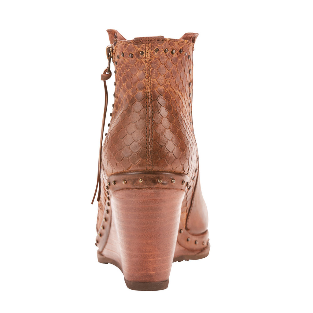 Women's Ariat Boot, Stax Stud, Wedged, Tan