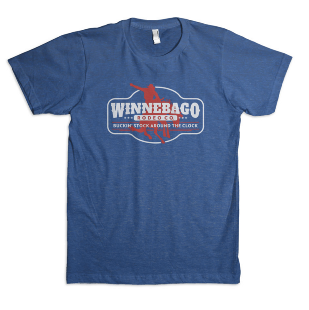 Men's Dale Brisby Tee, Winnebago Rodeo Co, Blue
