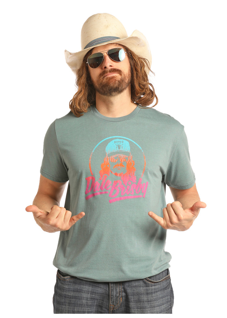 Men's Dale Brisby Tee, Green with Ombre Logo