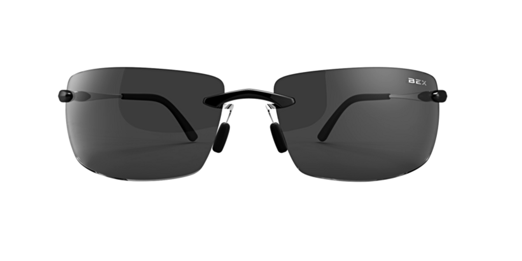 Bex Sunglasses, Brackley, Black Frame Gray Lens