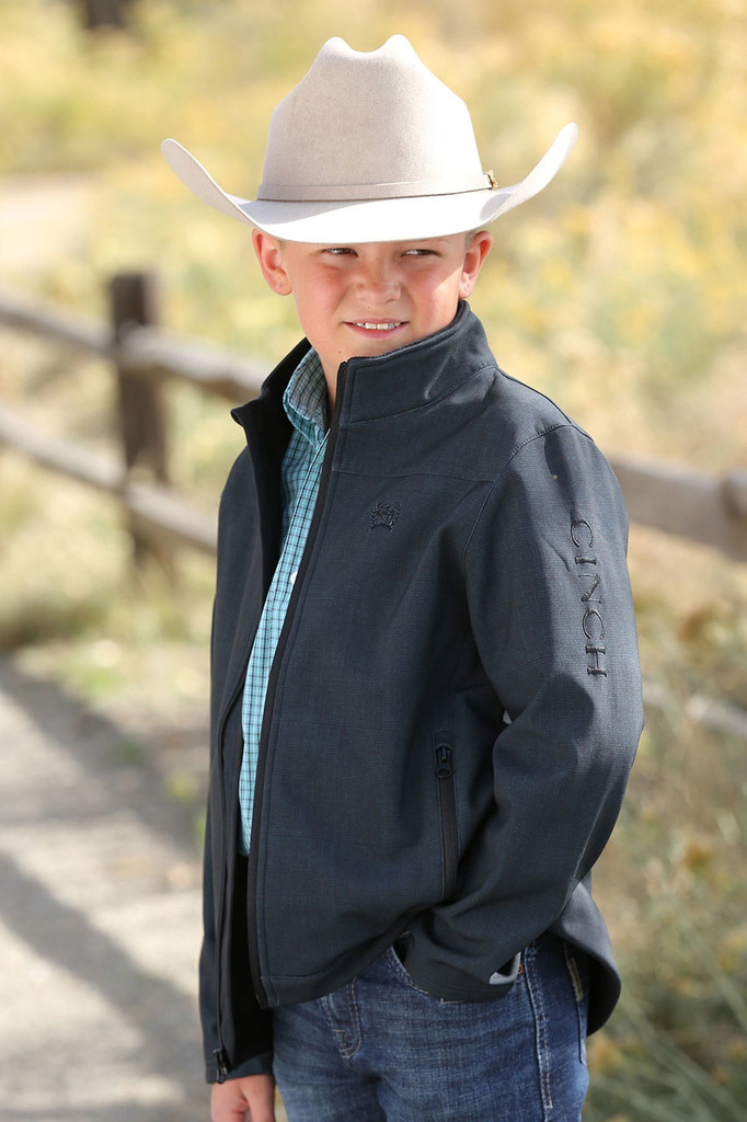 Boys Cinch Jacket, Bonded, Gray