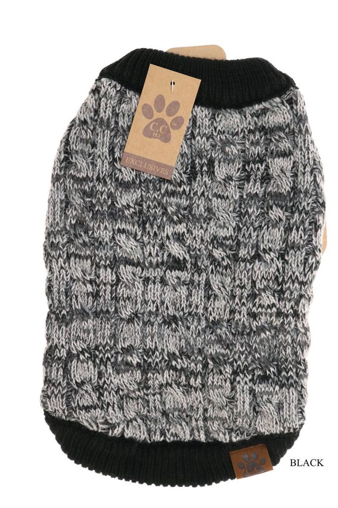 C.C. Dog Sweater, Multi Tone