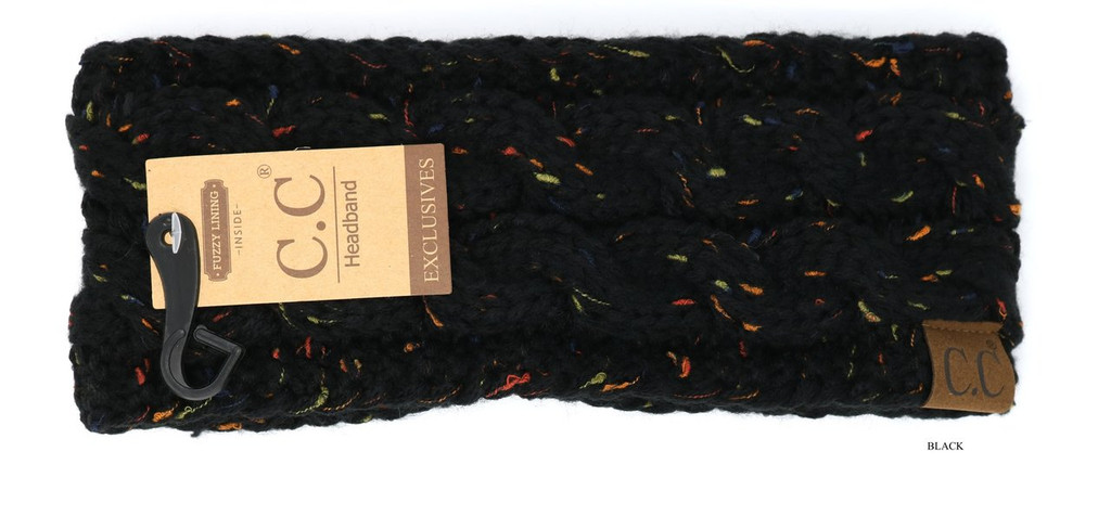 C.C. Headwrap, Flecked, Fuzzy Lined
