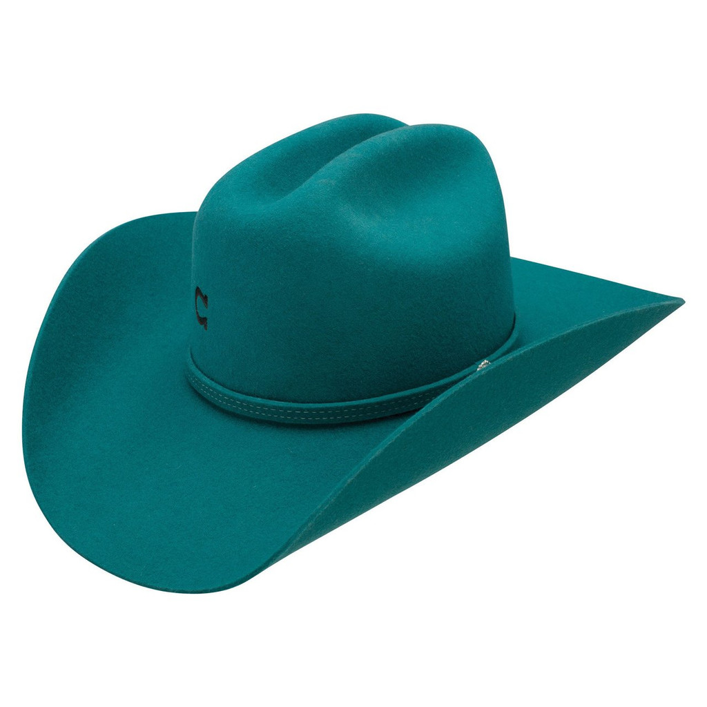 Charlie 1 Horse Felt Hat, Dime Store Cowgirl, Teal