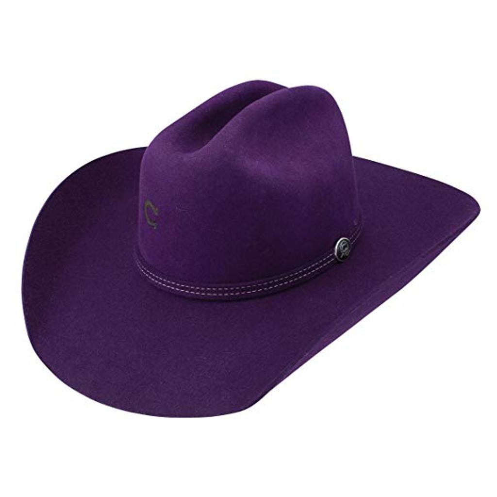 Charlie 1 Horse Felt Hat, Dime Store Cowgirl, Purple