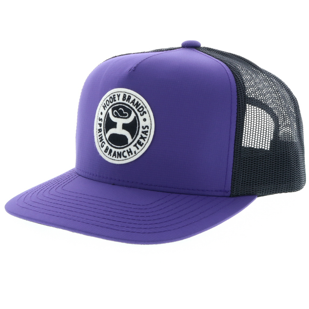 "Men's Hooey Cap, ""Guadalupe"" Purple with Black Mesh"