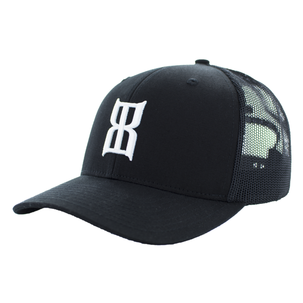 Men's Bex Cap, Steel, Black with White Logo