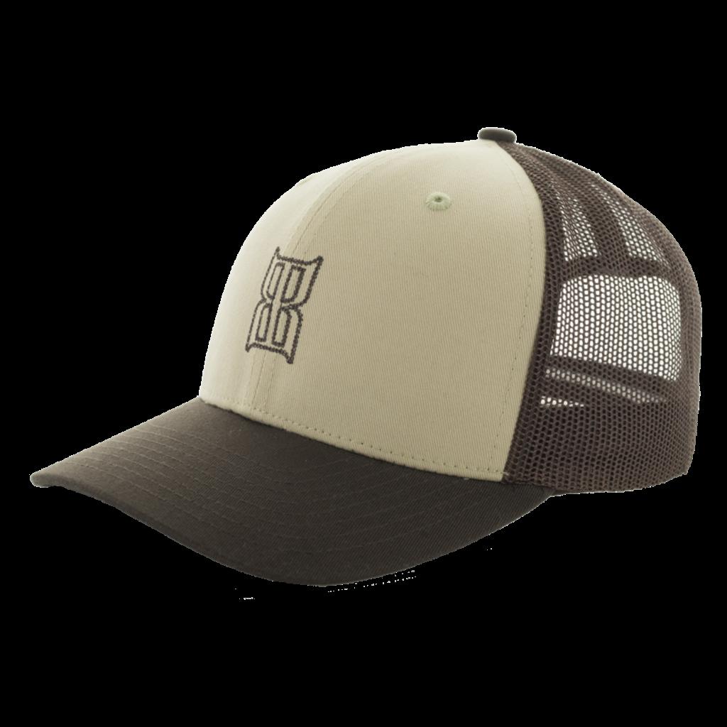 Men's Bex Cap, Stitch, Brown Trucker, Brown Logo