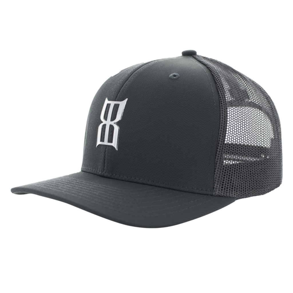 Men's Bex Cap, Klafkyn, Gray Trucker, White Logo