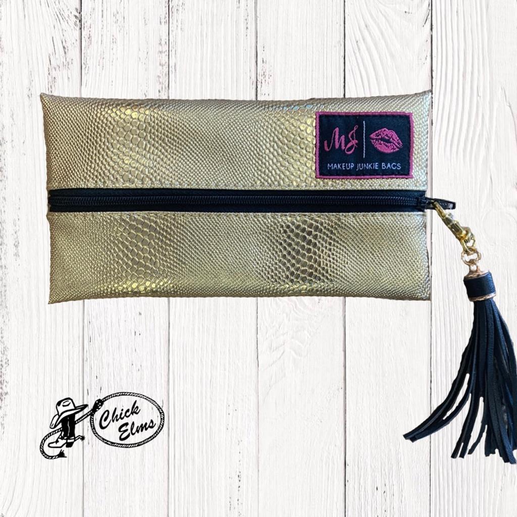 Makeup Junkie Bags, Gold Serpent, Mini