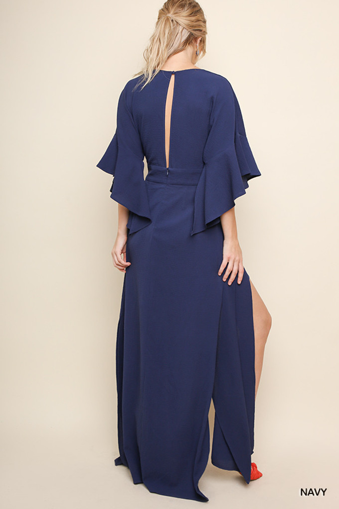 Women's Umgee Dress, V-Neck, Maxi