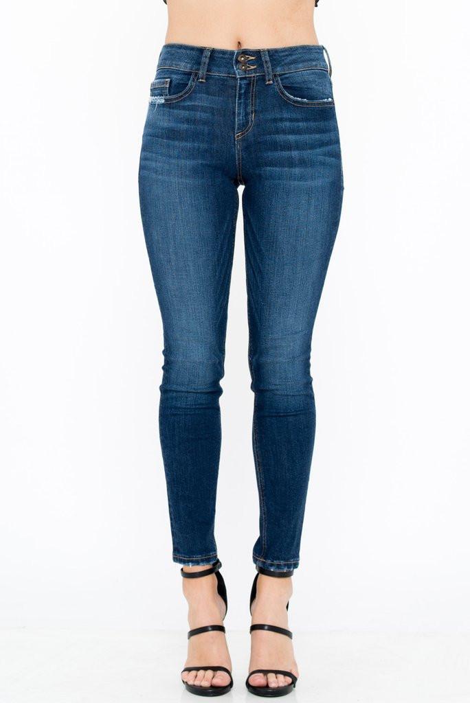 a5190f0fce9 Women's Sneak Peek Jeans, Mid Rise Skinny, Double Button, Medium Dark Wash