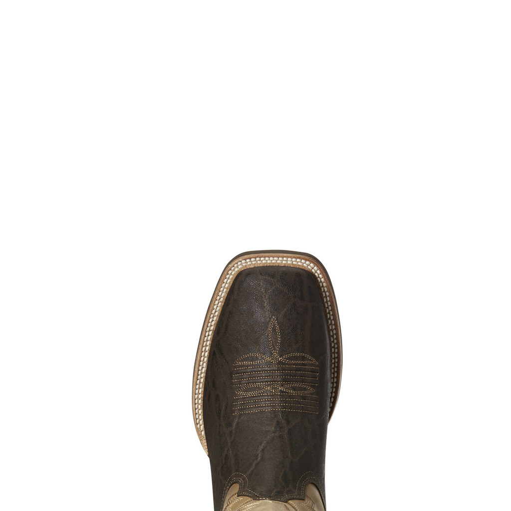 Men's Ariat Boot, Hot Iron, Chocolate Elephant, Tan Shaft