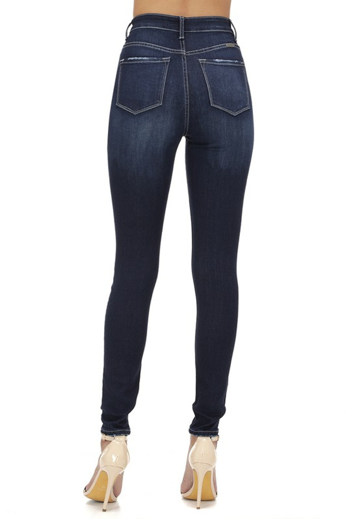 Women's KanCan Jeans, Chanel Rylee, Skinny Dark Wash, Distressed