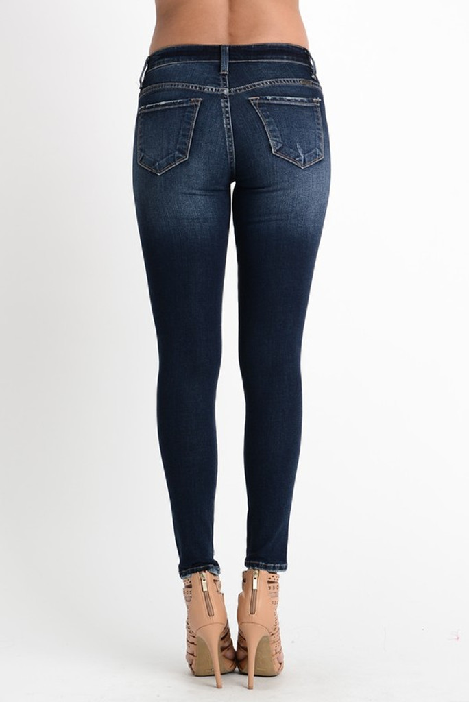 Women's KanCan Jeans, Holly Rama, Skinny Dark Wash