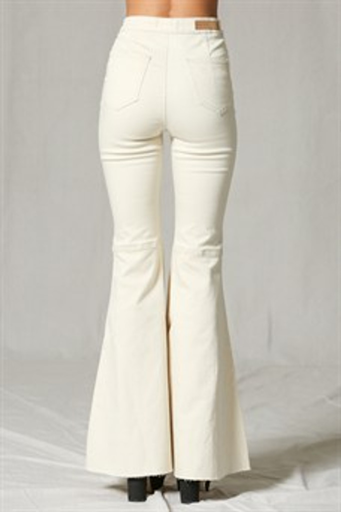 Women's By Together Jeans, Super Flared Bells, Cream Denim