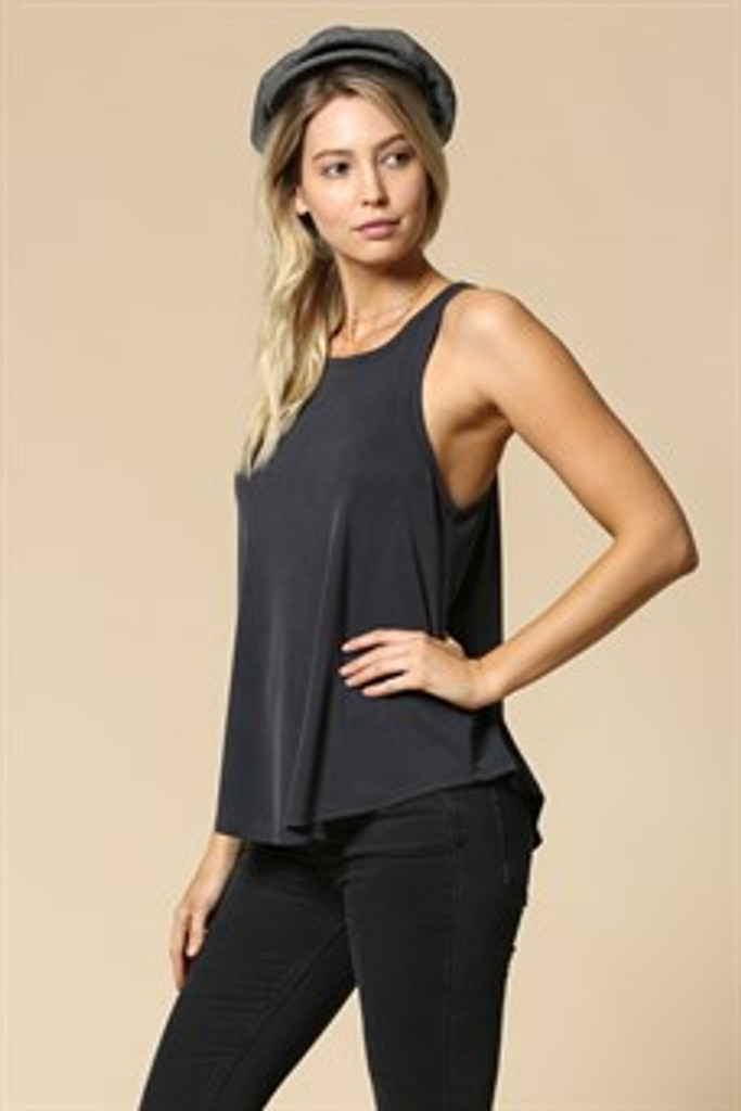 Women's By Together Tank, High Neck, Ribbed, Fitted