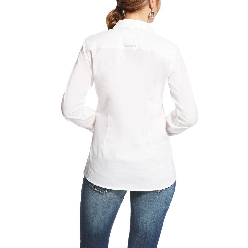 Women's Ariat L/S, Kirby, Solid White