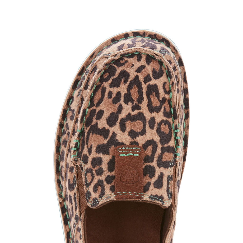 Women's Ariat Cruiser, Cheetah with Turquoise Accent