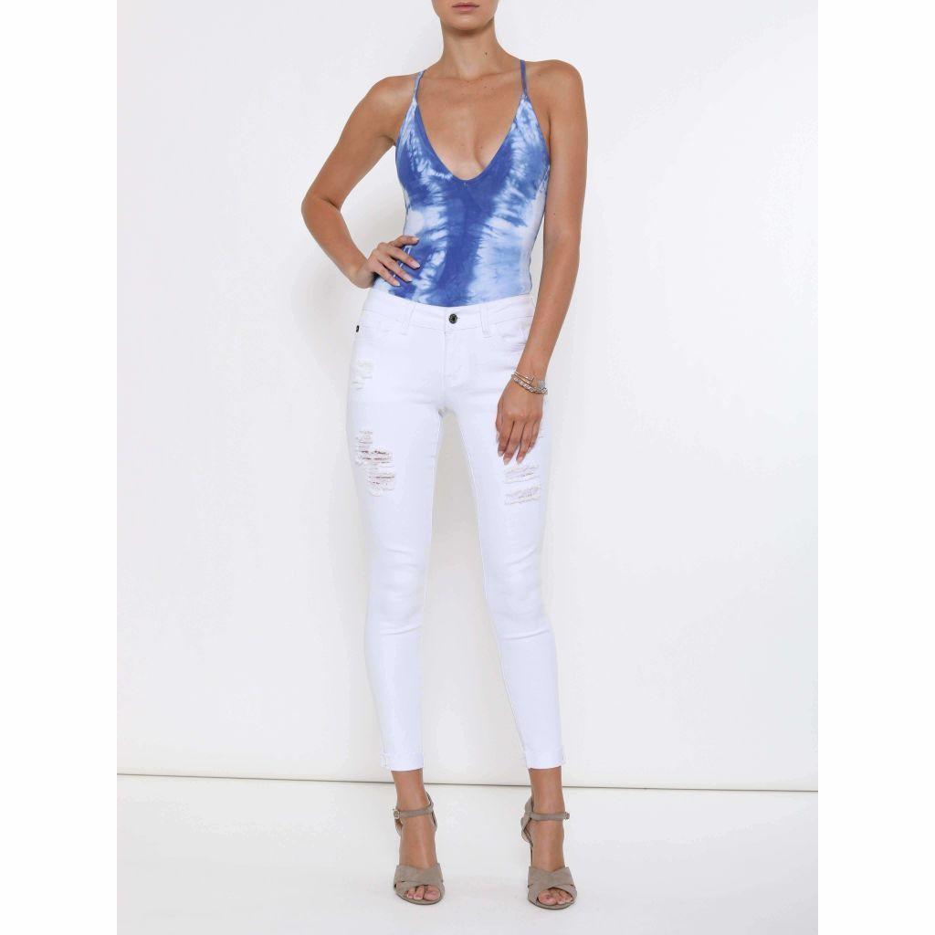 Women's KanCan Jeans, Weston Laguna, White Skinny, Distressed
