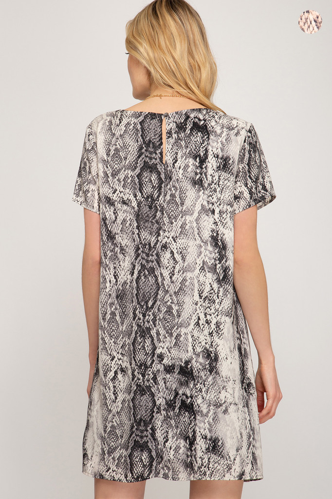 Women's She+Sky Dress, Snake Print
