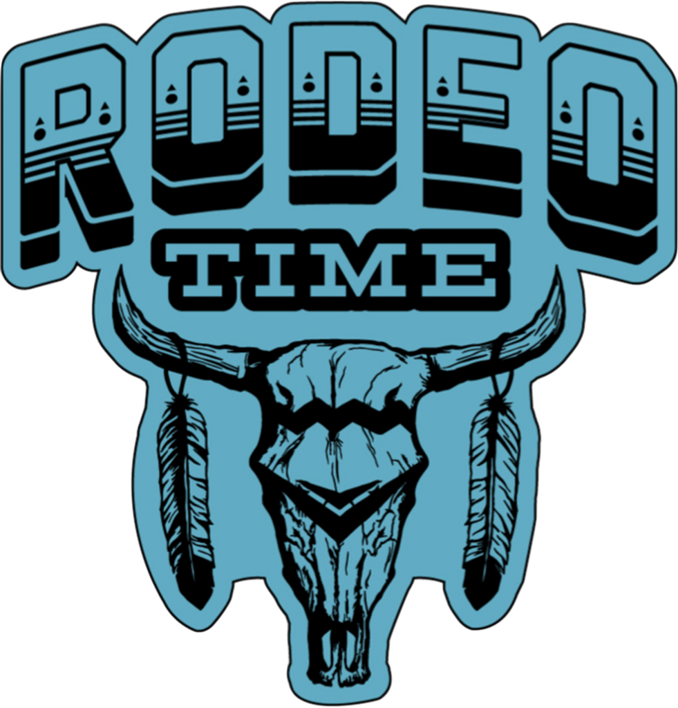 Dale Brisby Decal, Rodeo Time Turquoise