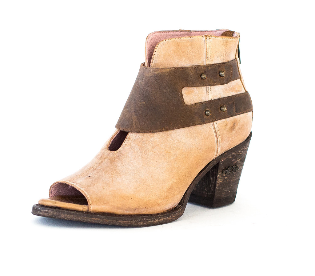Women's Miss Macie Boot, I Do Declare, Tan Open Toe