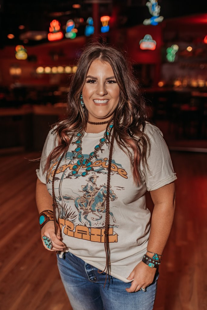 Women's GINA Tee, Turquoise Trail, Natural