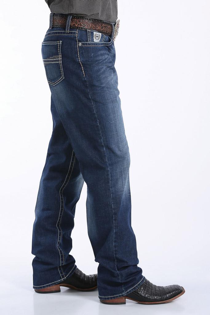 Men's Cinch Jeans, White Label, Dark Stone Wash, ArenaFlex