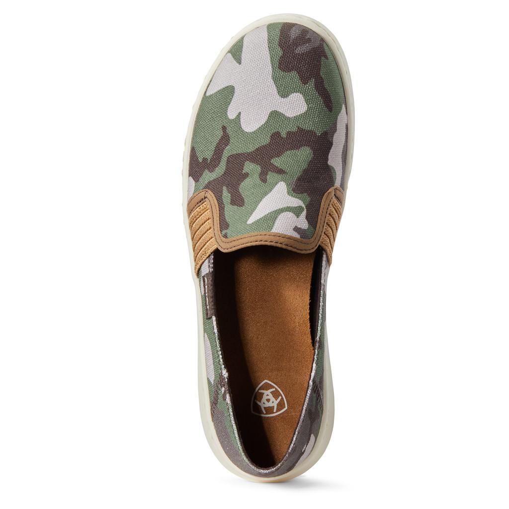 Women's Ariat Shoe, Ryder, Camo Slip On
