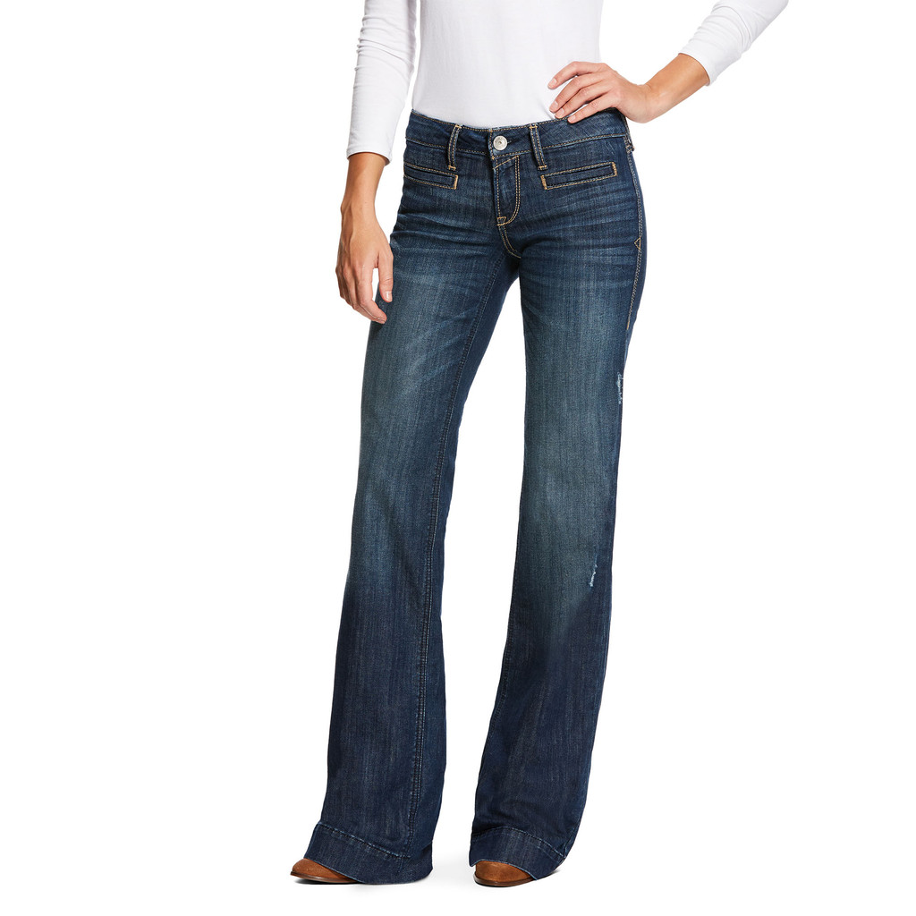 Women's Ariat Jeans, Lucy, Wide Boot, Pacific
