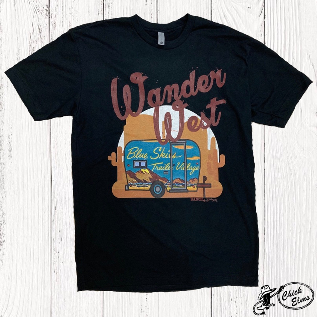 Women's Ranch Swag Tee, Wander West, Black