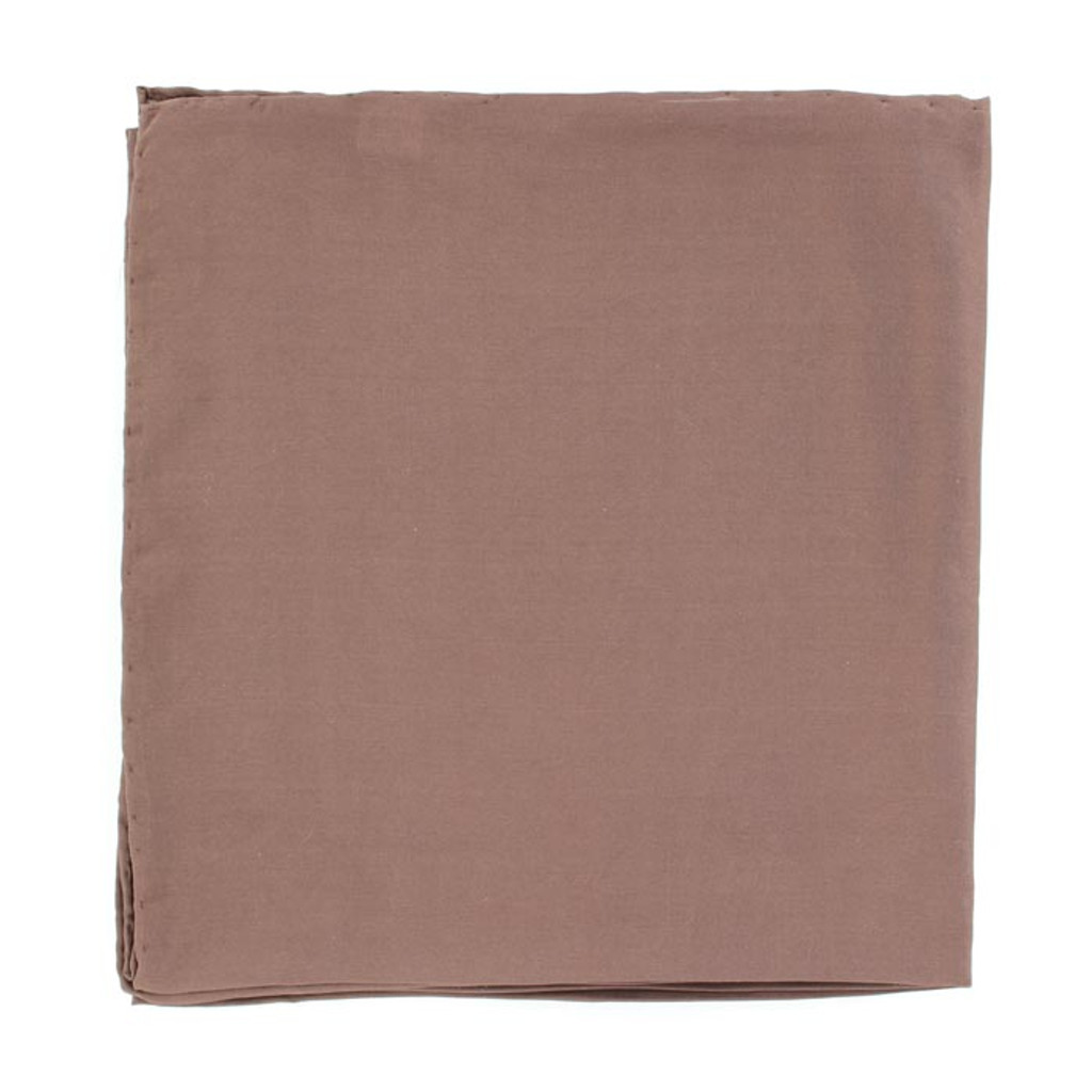 M&F Wild Rag, Solid Brown, 35x35