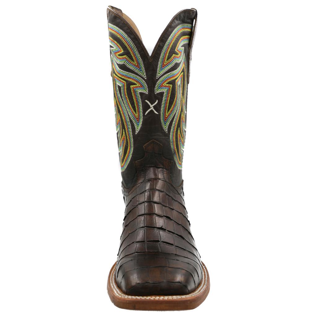 Men's Twisted X Boot, Chocolate Gator Print, Chocolate Shaft