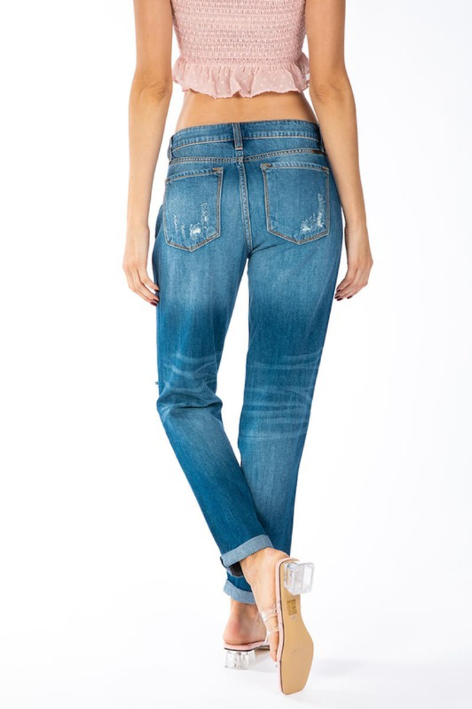 Women's KanCan Jeans, Boyfriend Fit, Extremely Distressed