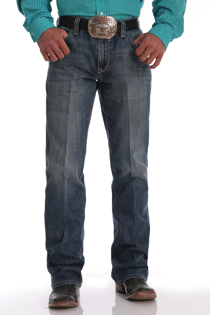 Men's Cinch Jeans, Silver Label Medium Stone 02/20