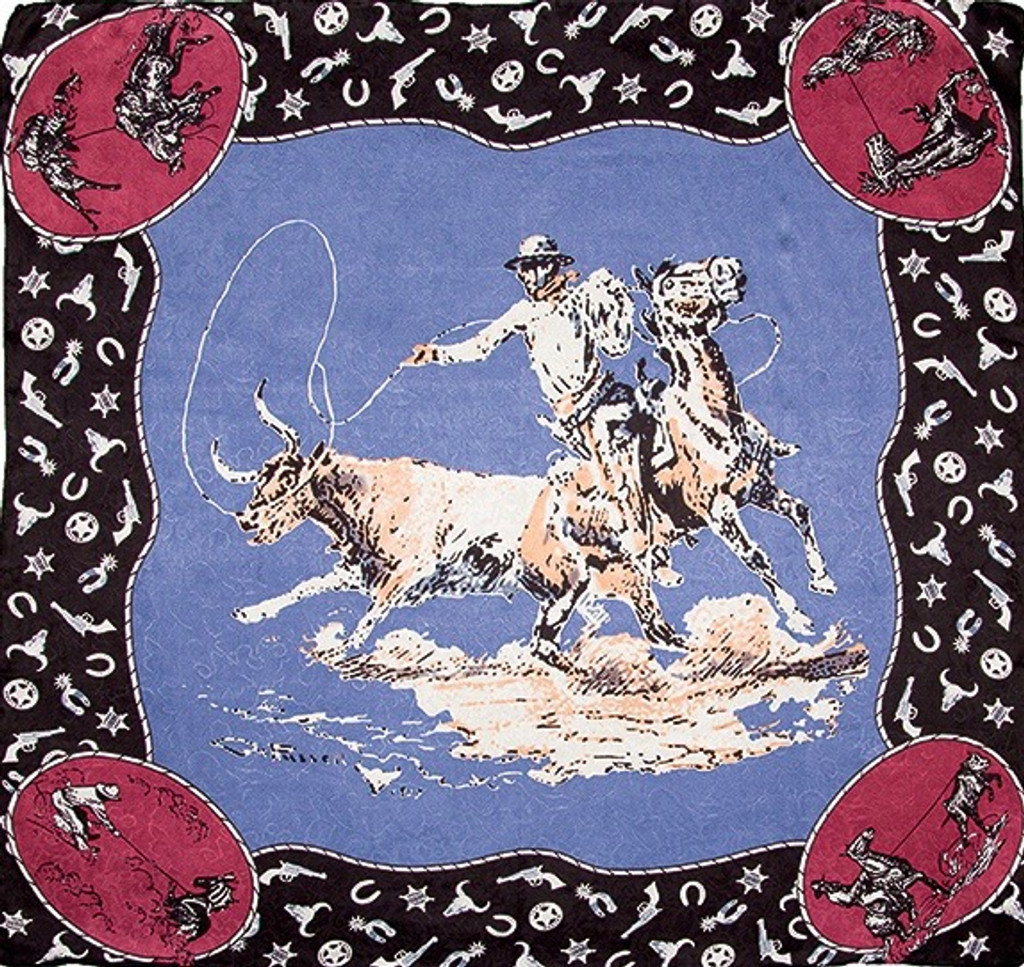 Wyoming Traders Wild Rag, LTD, Russell Slate Blue