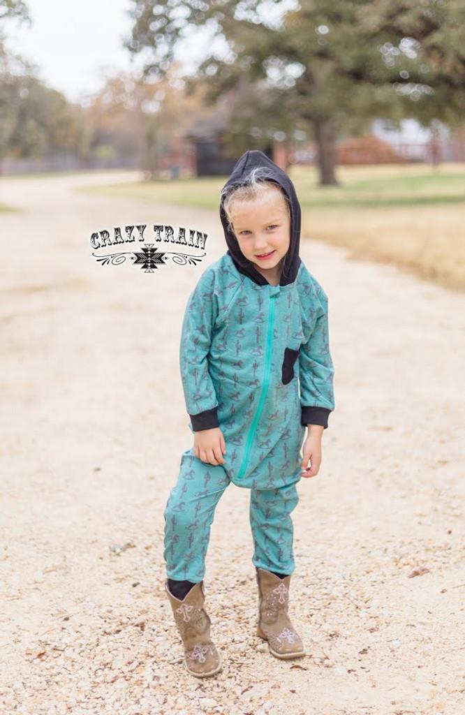 Kids Crazy Train Romper, Rockin' Rodeo Zip Up, Hoodie