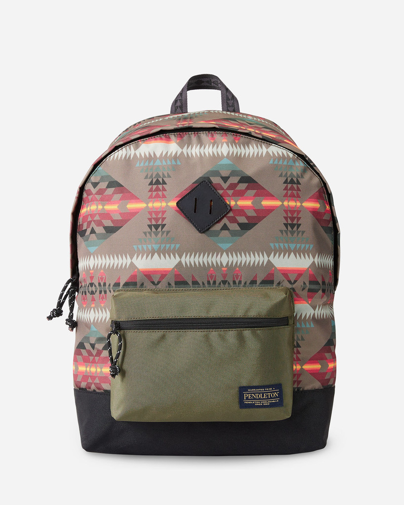 Pendleton Backpack, Basket Maker, Olive Aztec