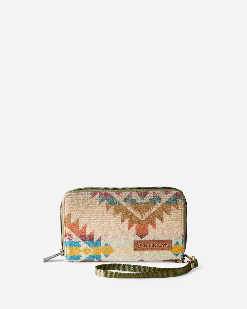 Pendleton Wallet, Taos Trail Tan, Zip Up with Wristlet