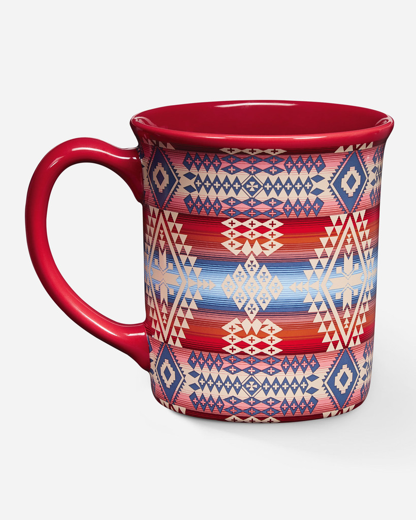 Pendleton Coffee Mug, Canyonlands Desert Sky, Red with Aztec