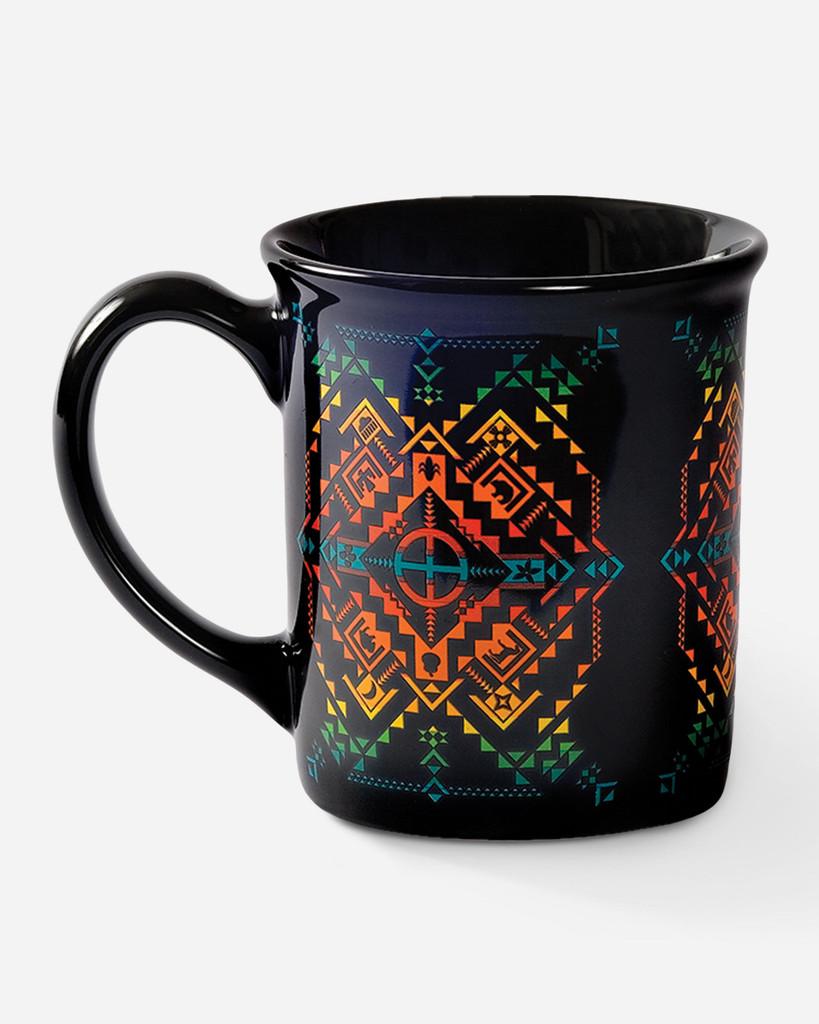 Pendleton Coffee Mug, Shared Spirits, Black with Multicolor Aztec