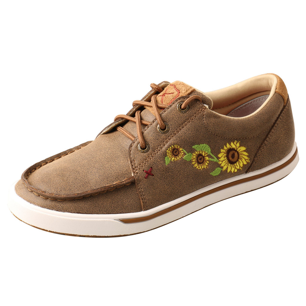 Women's Twisted X Shoes, Bomber with Sunflowers