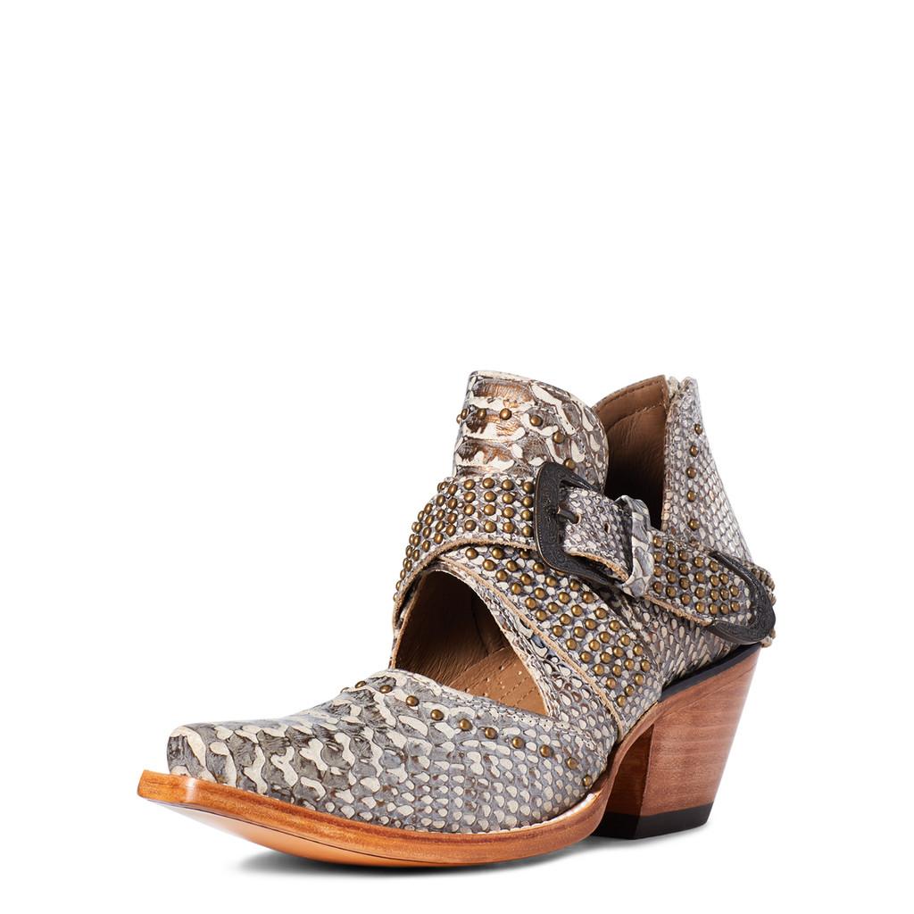 Women's Ariat Boot, Dixon, Rock N Roll Silver Snake, Open Cut