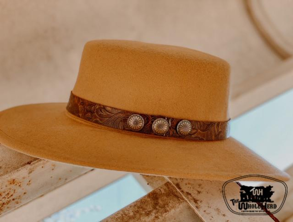 The Whole Herd Hatband, Ranch Rodeo, Western Tooled