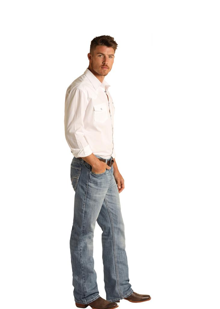 Men's Rock & Roll Jeans, Stackable Boot Cut, Medium Vintage Wash