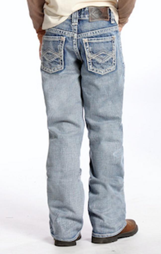 Boys Rock & Roll Jeans, Criss Cross Multi V Stitching