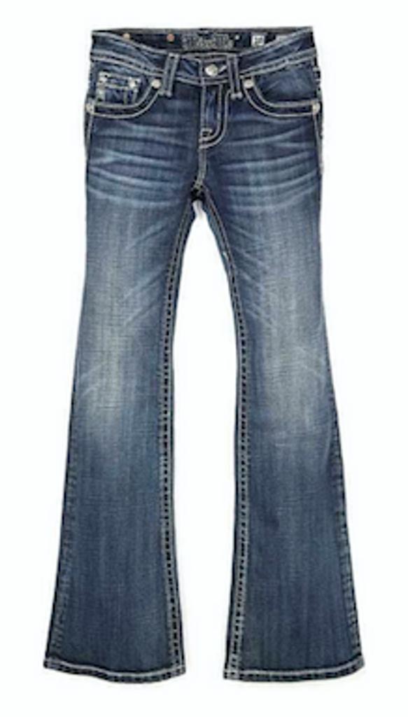 Girls Miss Me Jeans, Cross, Medium Wash