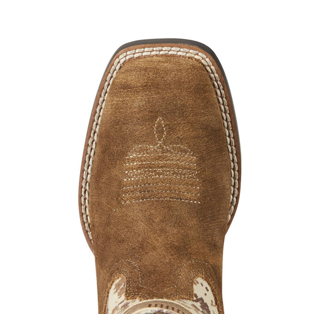 fc33069e19e Kids Ariat Boot, Antique Mocha Washed Suede with Sand Camo Print