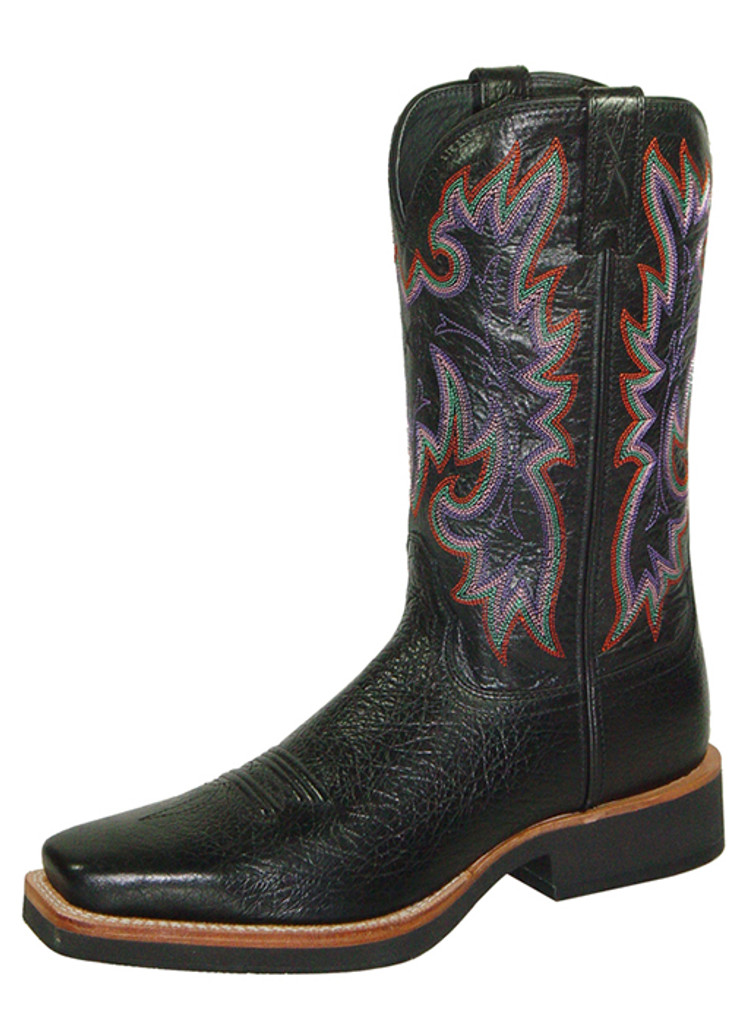 Women's Twisted X Boot, Black with Purple Stitch